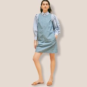 J.CREW Chambray shift dress in spring blossom wash